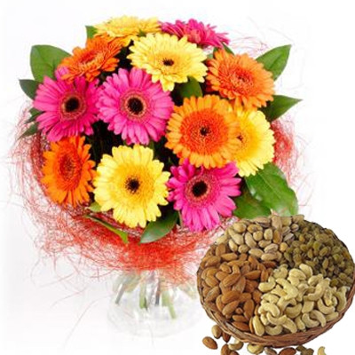 Flower N Dryfruits Hamper