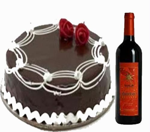 1 kg Chocolate Cake with Sula wine