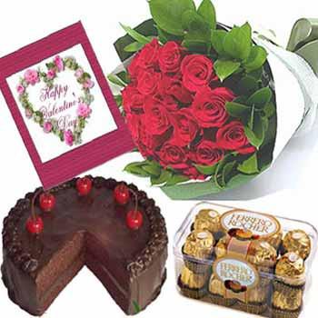 Cake Roses Chocolates