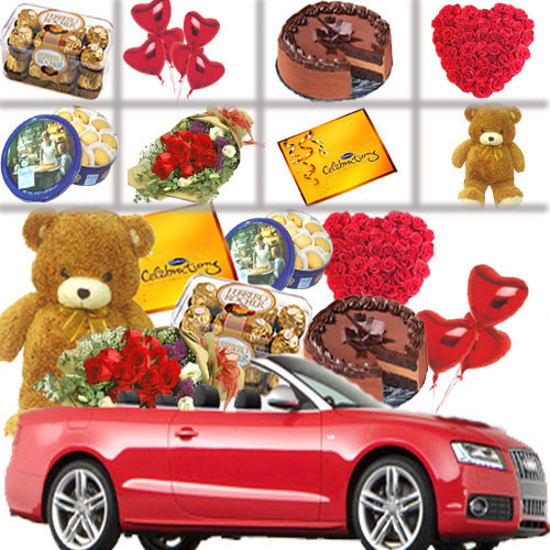 Car Full Of Valentine Gifts
