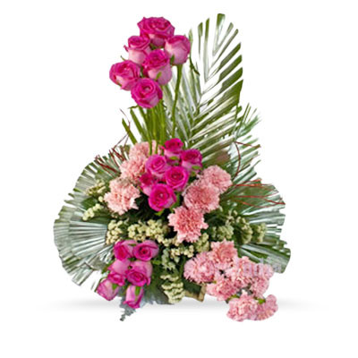 Carnation Roses Basket
