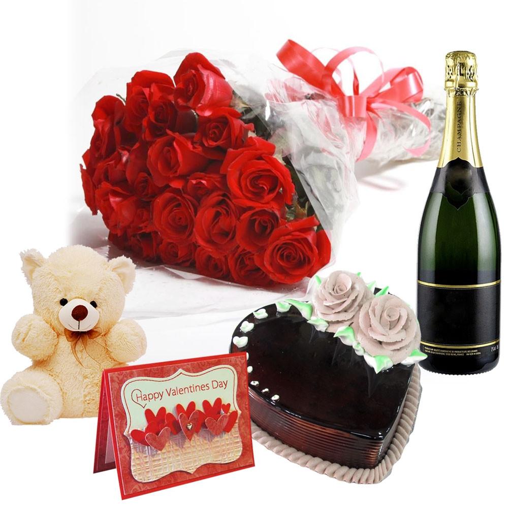 Classic Valentine champange Hamper