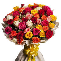 Bouquet Of 50 Mix Color Roses
