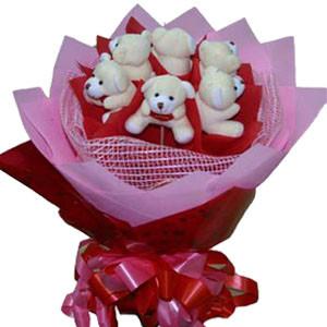 Cute Teddy Bouquet