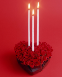 Heart Shape Rose with Candle