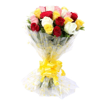 10 mix colour roses
