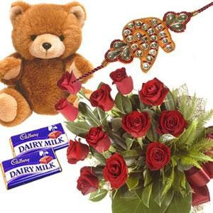 Rakhi Teddy Flower