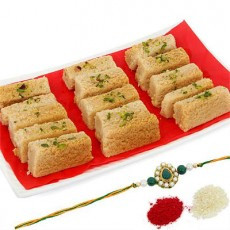 Delicious Milk Cake with Rakhi