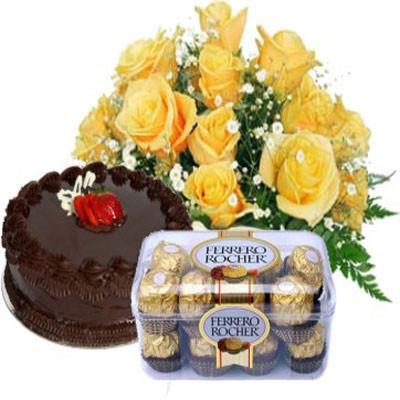 ROSES, ROCHER N CAKE COMBO