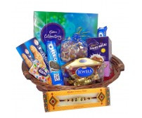 Rakhi with Cookies Hamper
