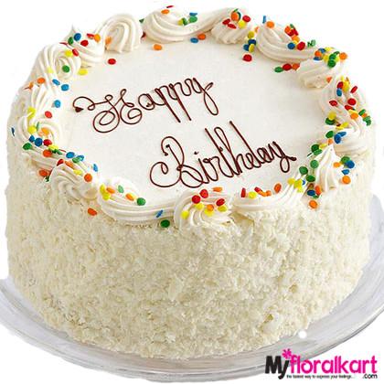 The White Sponge Birth Day Cake 1.5kg