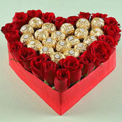 Heartshape Chocolate Bouquet