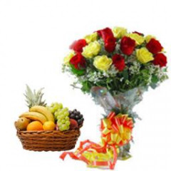 Rose with Fresh Fruits
