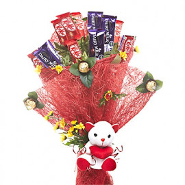Cute Chocolate Teddy Bouquet