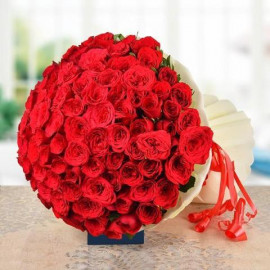 Romantic 143 Red Roses I LOVE YOU BUNCH