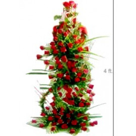 Tall Arrangement of 150 Roses
