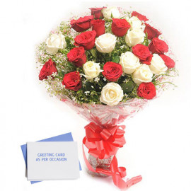 Flowers with Greeting Card