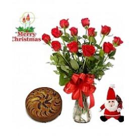 Christmas Special Flower & Plum Cake