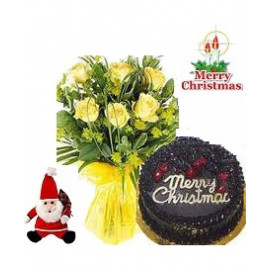 Christmas Special Yellow Roses Combo