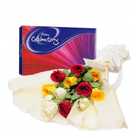 Mix Roses with Celebration