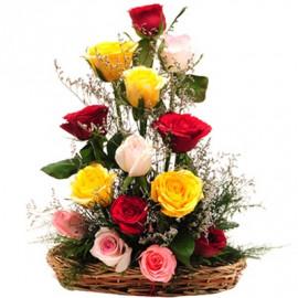 Mix Rose Basket