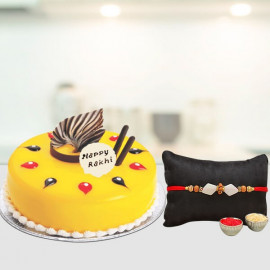 Delicious Cake with Rakhi (note : no. of rakhi can be customise)