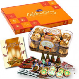 Crackers Hamper With Chocolate