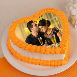 Photo Cake in Heart shape