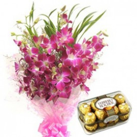 ORCHIDS WITH FERREROS