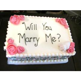 Propose Day Cake