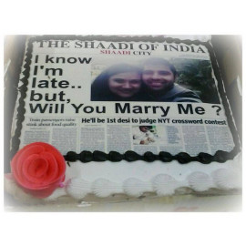Photo Cake for Propose Day
