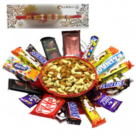 Rakhi with Chocolates Hamper