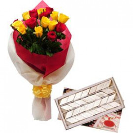 Roses and Kaju Barfi