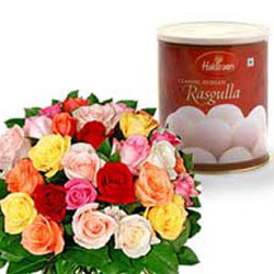 Flowers with  Rasgulla