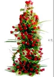 Tall Arrangement of 150 Roses