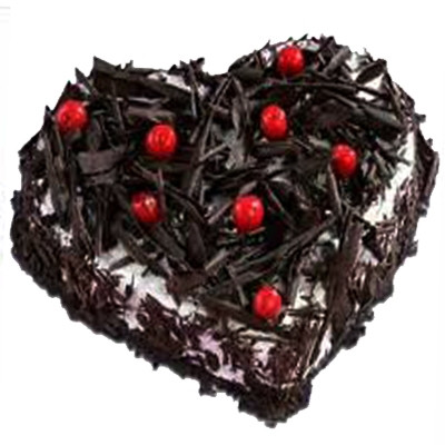 1 KG Heartshape Black Forest