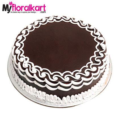 1kg Creamy Decorative Chocolate Cake