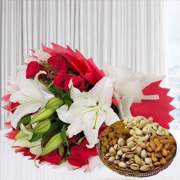 Asiatic Lily Roses n Dryfruits