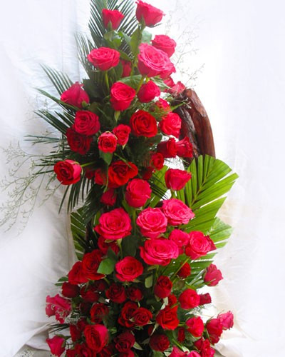 Tall Arrangements of 50 Roses