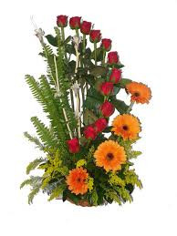 Arrangements Of 12 Red Roses And 6 Gerberas