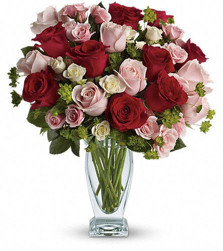 25 Mix Colour Roses In A Couture Vase