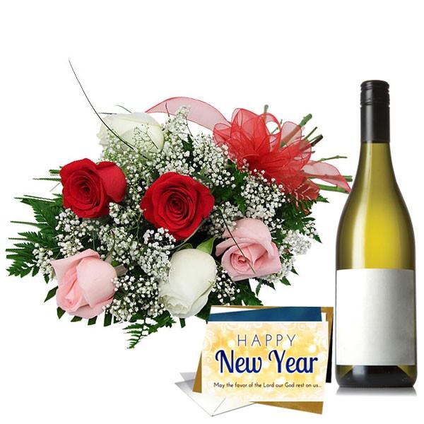 Flower Wine Greeting Hamper