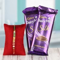 Rakhi with Dairy milk Silk