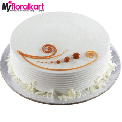 1kg Vanilla Cake with Caramel toppings