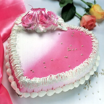 Heart Shape Strawberry Cake
