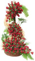 Tall Arrangements of 100 Red Roses