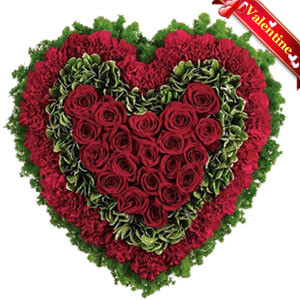 Rose and Carnation Heart