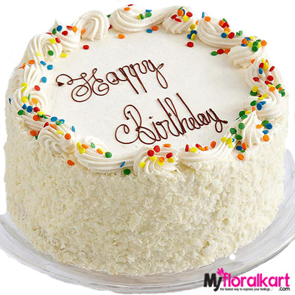 The White Sponge Birth Day Cake 1.5kg