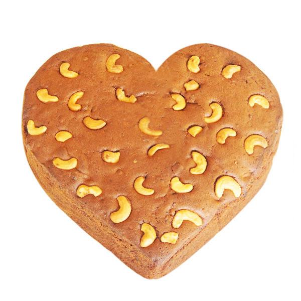 Heartshape Plum Cake